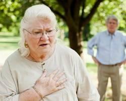 Приступ мерцательной аритмии у пожилой женщины