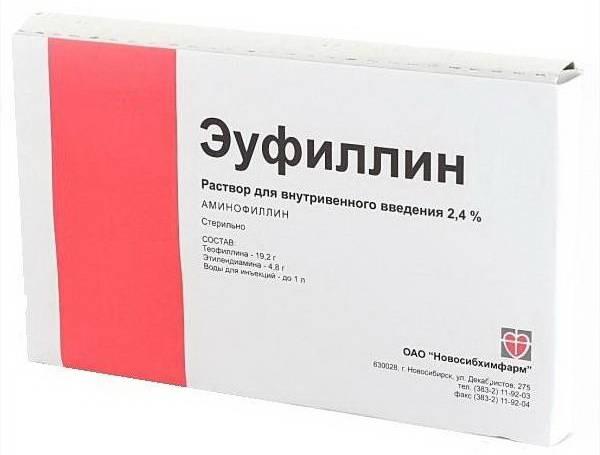 Красная коробка Эуфиллина