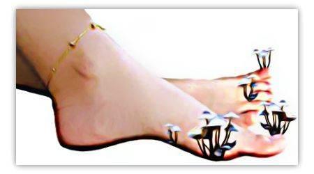 Китайский порошок для ног от грибка