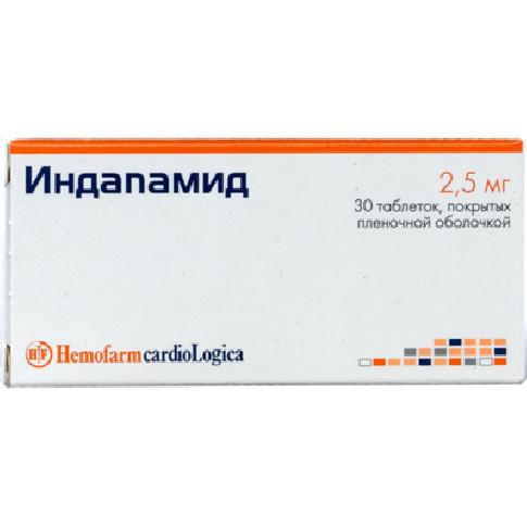 Индапамид инструкция по применению/>Индапамид – препарат с вазодилатирующим, гипотензивным и диуретическим действием.</p> <h2>Форма выпуска и состав</h2> <p>Индапамид выпускают в следующих лекарственных формах:</p> <ul> <li>Капсулы (по 5 шт. в контурных ячейковых упаковках, по 4 упаковки в картонной пачке; по 6 шт. в контурных ячейковых упаковках, по 5 упаковок в картонной пачке; по 7 шт. в контурных ячейковых упаковках, по 2 упаковки в картонной пачке; по 10 шт. в контурных ячейковых упаковках, по 1-5 упаковок в картонной пачке; по 30 шт. в контурных ячейковых упаковках, по 1-4 упаковки в картонной пачке; по 10, 20, 30, 40, 50, 100 шт. в банках, по 1 банке в картонной пачке);</li> <li>Таблетки пролонгированного действия, покрытые пленочной оболочкой (по 10 шт. в блистерах, по 2, 3, 6 блистеров в картонной пачке; по 30 шт. в банках, по 1 банке в картонной пачке);</li> <li>Таблетки с модифицированным высвобождением, покрытые оболочкой (по 10 и 14 шт. в контурных ячейковых упаковках, по 1, 2, 3, 100, 200, 300, 400, 500 упаковок в картонной пачке);</li> <li>Таблетки, покрытые оболочкой (по 20, 30 шт. в полиэтиленовых флаконах или банках, по 1 флакону или банке в картонной пачке; по 10, 20, 30 шт. в контурных ячейковых упаковках, по 1-6, 8, 10, 20, 40, 60, 80, 100 упаковок в картонной пачке; по 10 шт. в полимерных контейнерах, по 1, 10, 20, 30, 40, 50, 100 контейнеров в картонной пачке; по 20, 30, 40, 50 шт. в полимерных контейнерах, по 1, 10, 20 контейнеров в картонной коробке);</li> <li>Таблетки, покрытые пленочной оболочкой (по 10, 20 шт. в блистерах, по 1-5 блистеров в картонной пачке; по 30, 50 шт. в контурных ячейковых упаковках, по 1-3 упаковки в картонной пачке; по 10, 20, 25, 30, 50, 500, 1000 шт. в полиэтиленовом флаконе, по 1 флакону в картонной пачке).</li> </ul> <p>В состав препарата входит активное вещество – индапамид:</p> <ul> <li>Таблетки пролонгированного действия и таблетки с модифицированным высвобождением, покрытые оболочкой – 1,5 мг;</li> <li>Капсу