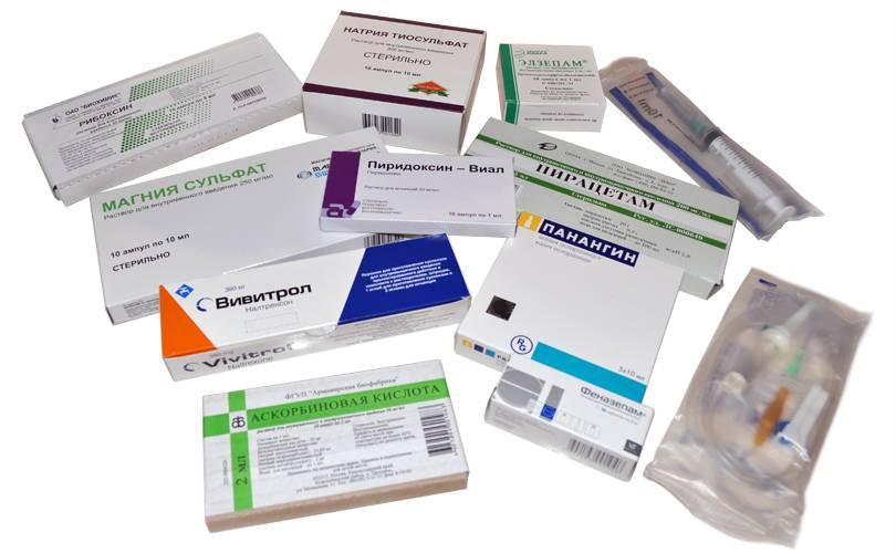 Выход из запоя медикаменты схема